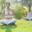 Stock Photo: Two meditating people