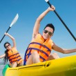 Rowing couple — Stock Photo
