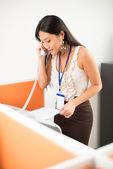 Busy secretary — Stock Photo