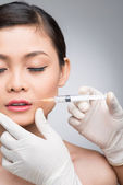 Injection of botox — Stock Photo