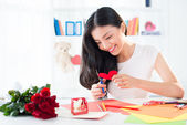 Valentine greeting cards — Stock Photo