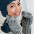 Stock Photo: Lovely winter woman