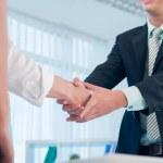 Human handshaking — Stock Photo