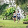 Couple walking in park — Stock Photo #41730483