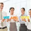 Business international team — Stock Photo