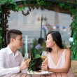 Stock Photo: Couple on romantic date
