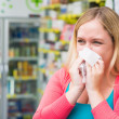 Womhaving flue — Stock Photo #41734993