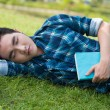 Stock Photo: Tired Napping student