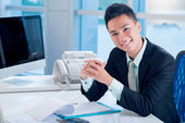 Financial worker — Stock Photo
