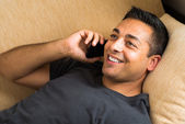 Man talking phone — Stock Photo