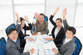 Cheerful businesspeople — Stock Photo