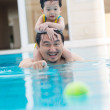 Resting in swimming pool — Stock Photo