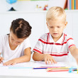 Preschoolers in class — Stock Photo