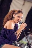 Cuban female artist — 图库照片