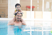 Vacations with father — Foto de Stock