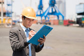 Inspector at work  — Stock Photo