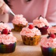 Cupcakes icing — Stock Photo
