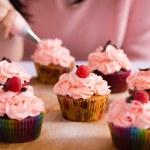 Cupcakes icing — Stock Photo #46251709