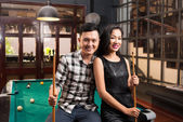 Asian couple in the bar — Stock Photo