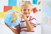 Studying geography — Stock Photo