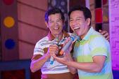 Karaoke uitvoeren — Stockfoto