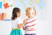 Fond of geography — Stock Photo