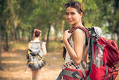Attractive traveler — Stock Photo
