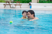 Cheerful swim — Stock Photo