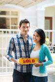 Sold-sign — Stock Photo