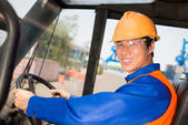 Longshoreman at work — Stock Photo