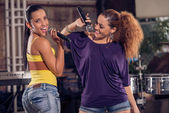Two Cuban female singers — Foto Stock