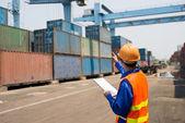 Seaport distribution — Stock Photo