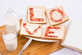 Breakfast for sweetheart  — Stock Photo