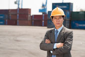 Port engineer — Stock Photo