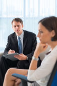 Attentive psychologist — Stock Photo