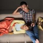 Couple on sofa — Stock Photo #47190799