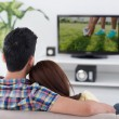 Game on tv — Stock Photo