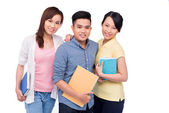 Asian students — Stock Photo