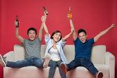Joyful friends — Stock Photo