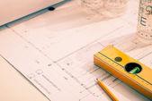 Reconstruction plan — Stock Photo