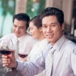 Drinking in bar — Stock Photo