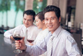 Drinking in bar — Stock Photo