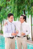 Two men joking — Stock Photo