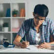Student doing homework — Stock Photo #48699617