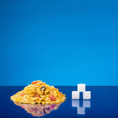 Cereals and sugar — Stock Photo