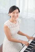 Elegant musician — Stock Photo