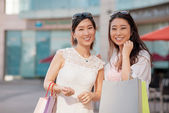 Joyful Korean shoppers — Stock Photo
