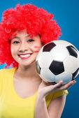 Fan di calcio femminile — Foto Stock