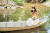 In boat — Stock Photo