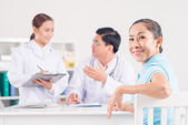 Visiting doctor — Stock Photo